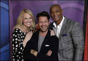 Monica Pederson, Nate Berkus, and Eddie George are hosts for NBC's 'American Dream Builders' starting in March.