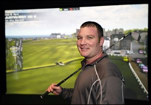 Justin Rist, owner of Fore Golfers, started business in November. With 42 simulations available, he doesn't mind long winters.
