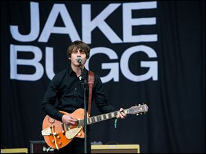 Jake Bugg performs live on the Pyramid Stage at day 2 of the 2013 Glastonbury Festival in Glastonbury, England.