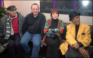 Michael Peslikis, BGSU Popular Culture professor and Jazz keyboardist; Ray Parker, son of Gene Parker and Jazz bassist; Annie Ross and Jon Hendricks at the Metropolitan Room, New York.