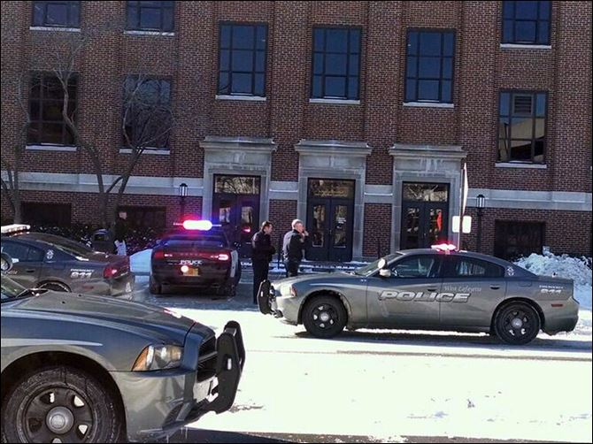University Shooting Police investigate a reports of a shooting at Purdue University in West Lafayette, Ind., Tuesday.