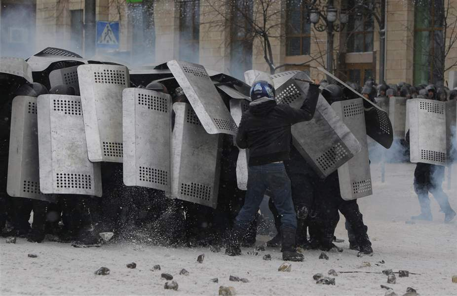 APTOPIX-Ukraine-Protests