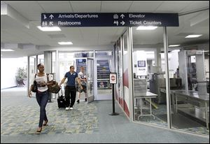 Allegiant Airlines overtook American Eagle Airlines as Toledo Express Airport's busiest carrier last year, leading to an 11 percent increase of passenger volume at the airport.