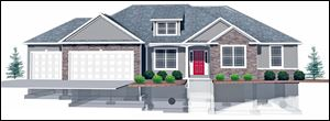 """The Colorado"" 2,100 sq. ft., 3 bed, plus den - Ranch Designed in 3D, Homes by Josh Doyle"