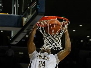 Toledo's J.D. Witherspoon dunks.