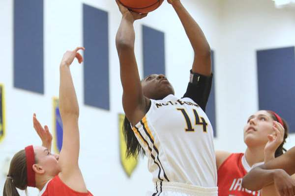 Notre-Dame-s-junior-Kyndra-Gaines-14-puts-up-two