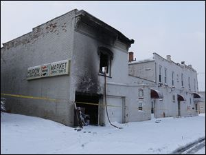 548 Huron Street, site of a fire which took the lives of two Toledo Fire Department firefighters and made seven people homeless.