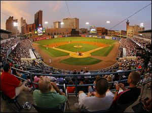 Mud Hens fans must waint until Friday, April 4 for their first game at Fifth Third Field next season.
