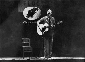 Pete Seeger performed at Whitmer High School for a benefit for the Farm Labor Organizing Committee for more than two hours on a Sunday night in 1983. Attendance reports ranged from 800 to 1,100.
