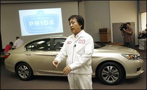 Honda Motor Co. was Ohio's largest automotive employer and 16th-largest company overall in 2012, with 13,500 employees. The company is led by Hide Iwata, shown here in Marysville in 2012.
