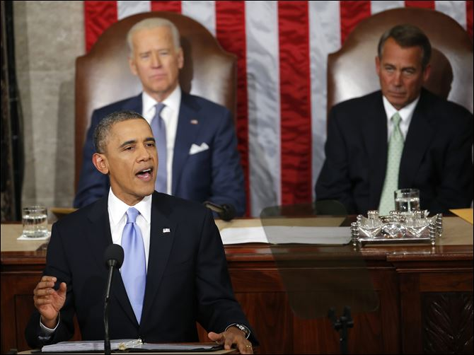 State of the Union President Barack Obama gives his State of the Union address.