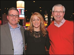 Joe Buick, Rachel Hepner Zawodny and Kevin Kwiatkowski at the preview for the Red Cross Oscar's night.