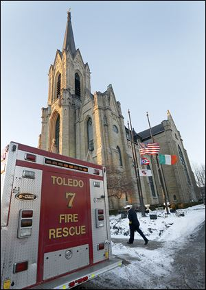 Firefighters have their own ministry, Msgr. Christopher Vasko told those gathered for Mass. 'When we think of the risks that any first-responder takes, that's a call from God,' he said.