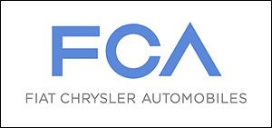The new logo for Fiat Chrysler is meant to show neither automaker is over the other.