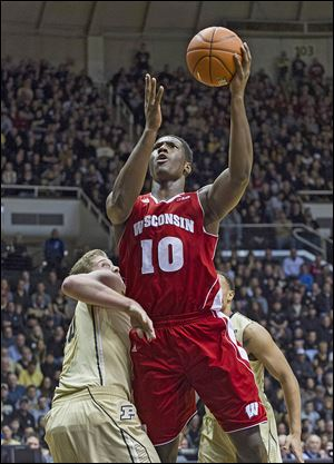 Wisconsin's Nigel Hayes is averaging 8.8 points on 52 percent shooting and 3.6 rebounds in conference play. The Whitmer product also has  twice been named Big Ten freshman of the week.