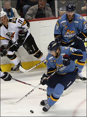 Forward Kyle Rogers played in his 250th game as a Toledo Walleye.