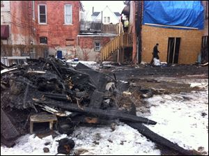 Investigators were back on the scene of the fire in North Toledo today.