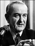 U.S. President Lyndon B. Johnson declared war on poverty in his January, 1964, State of the Union address a few months after a speech by Dr. King.
