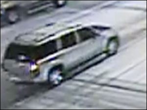 Police are seeking information about a silver, General Motors sport utility vehicle that they said followed Michael Macklin, Jr., from Club Ellyzees in downtown Toledo.