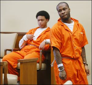 Phillip Allen, Jr., right, and co-defendant Adam Anderson.