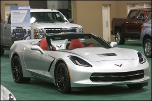 The 2014 Chevrolet Corvette is one of several speedsters on display at this year's show.