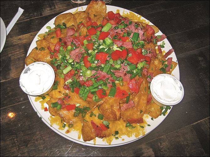 FEA Stones Throw restaurant Nachos.