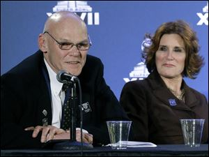 Political commentator James Carville, shown with his wife Mary Matalin, has been hired by Fox News Channel as a contributor.