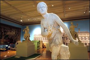 From left to right: 'Faun,' by Antoine Coysevox; 'Atalanta,' by Pierre Lepautre; and 'Hamadryad,' by Coysevox. The sculptures are part of the more than 100 pieces of art in the Art of the Louvre's Tuileries Garden exhibit at the Toledo Museum of Art. The exhibit will run from Thursday to May 11.