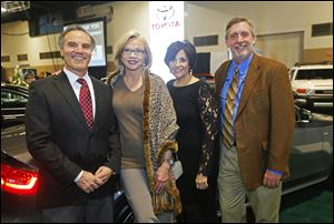 From left: Brian Darah, Marianne Ballas, Susie Doukides, and John Hadley during the Auto Show Gala on Feb. 5, 2014.
