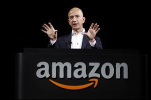 Jeff Bezos, CEO and founder of Amazon, speaks in Santa Monica, Calif. Amazon Studios begins Season 2 of its bid to become a force in television programming Thursday, offering viewers an opportunity to help guide the company as it chooses from a new batch of 10 pilots.