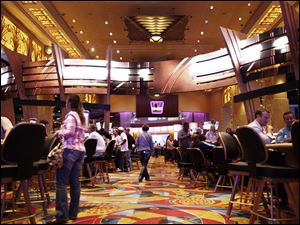 Hollywood Casino Toledo brought in about $11.5 million in January, the casino's lowest month since it opened in 2012.