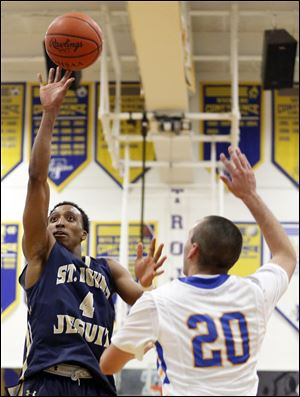 St. John's senior Anthony Glover, Jr., averages 17.7 points per game, tops in the Three Rivers Athletic Conference.