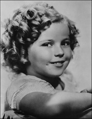 Eight-year-old U.S. American child movie star Shirley Temple in Hollywood, Calif., in November, 1936.