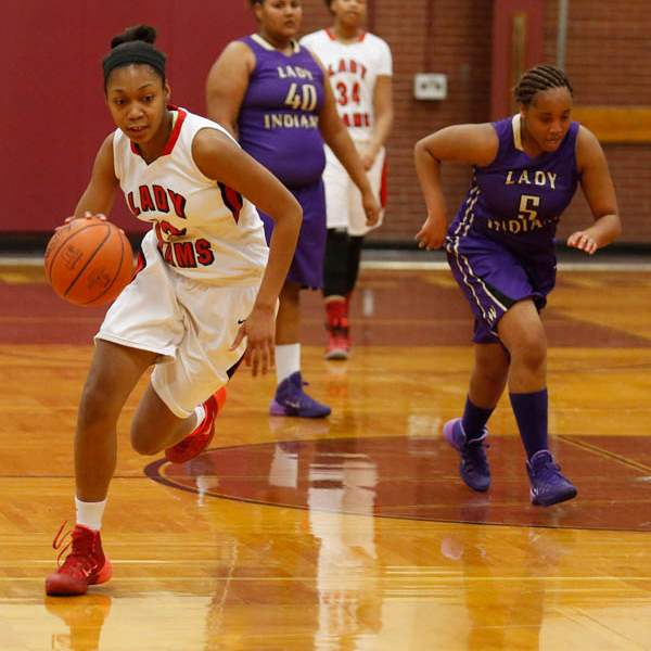 Rogers-Tori-Easley-dribbles-down-the-court-during-2nd-half