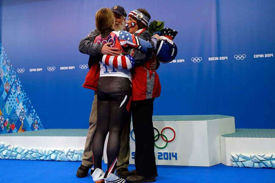 APTOPIX-Sochi-Olympics-Luge-Women-hamlin-and-parents