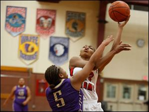 Waite's Sharena Gary guards Rogers'  Tori Easley during 2nd half.