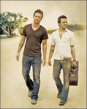 Academy of County Music nominated duo Love and Theft will perform in the H Lounge of Hollywood Casino Saturday.