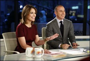 "NBC turned to Lauer, right, a host on ""The Today Show,"" to help carry prime-time coverage while Bob Costas recovers from an eye infection."
