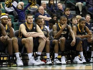 Toledo's bench watches the seconds fade away in the final minute of the second half.
