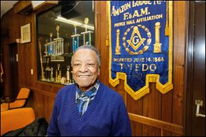 Carmen Williamson, 89, of Toledo's Amazon Lodge can recall when church and lodge were the only places African-American men could socialize.