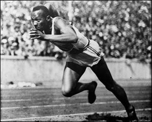 Jesse Owens won four gold medals at the 1936 Berlin Olympics and showed up Adolph Hitler's idea of Aryan supremacy.