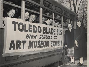 The Toledo Blade bused students to the Toledo Museum of Art to view more than 90 European paintings Nazis had buried deep in a German salt mine.