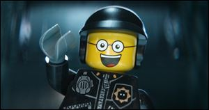 The character Bad Cop/Good Cop voiced by Liam Neeson in  'The Lego Movie,' which took the top spot at the box office in its second weekend.