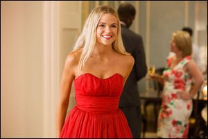 This photo released by Universal Pictures shows Gabriella Wilde as Jade Butterfield in the film, 'Endless Love.'