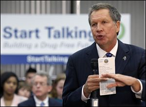 Ohio Gov. John Kasich has taken on a more conciliatory, politically moderate approach that observers say could be intended to position him for re-election in his perennially purple state or for a repeat run for president.