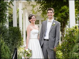 Maggie Lindsey and Alex Kinney of Cleveland Heights, Ohio; Married July 20; Ceremony: First Presbyterian Church of Perrysburg; Reception: Carranor Hunt and Polo Club; Parents: Julia and Patrick Lindsey of Maumee  and Deborah and Ward Kinney of Chesterland, Ohio