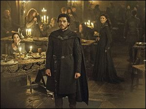 From left, Oona Chaplin, Richard Madden, and Michelle Fairley in a scene from the 'Game of Thrones'season 4.