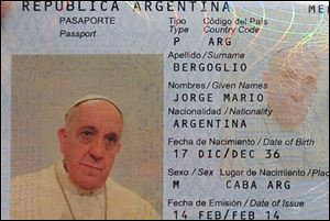 Argentina's ambassador to the Holy See, Juan Pablo Cafiero said he and his deputy went to the Pope's hotel in the Vatican gardens last Friday to take Francis' photo and digital fingerprints because the Pope's passport was due to expire and he wanted to renew it.