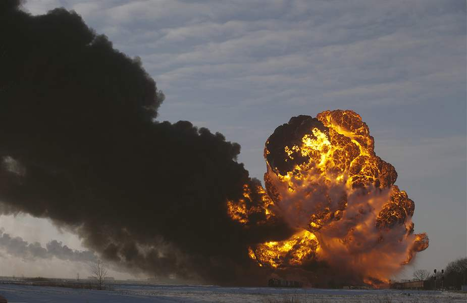 A-fireball-rises-at-the-site-of-a-derailment-in-Ca