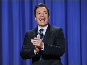 "Jimmy Fallon made his debut as host of his new show, ""The Tonight Show with Jimmy Fallon,"" Monday night."